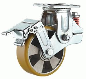 Swivel wheel lock Aluminum PU