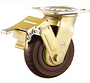 Swivel wheel lock foam